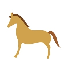 brown horse icon vector image