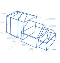 Buildings blueprint vector image