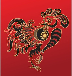 chinese horoscope year rooster vector image