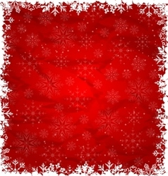 Christmas Border Made in Snowflakes vector