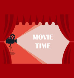 Cinema background or banner movie time movie vector