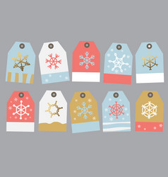 Collection tag on the gift vector
