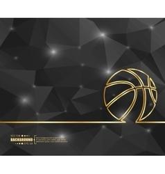 Creative basketball Art vector