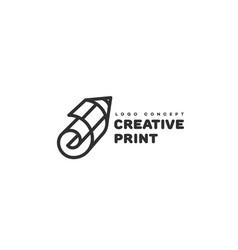 Creative print logo vector
