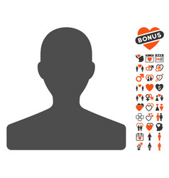 Customer icon with dating bonus vector