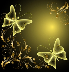 Decorative butterflies Background vector image