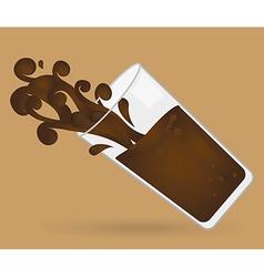 delicious chocolate vector image