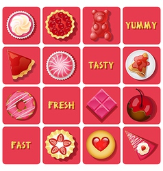 Dessert and baked goods vector