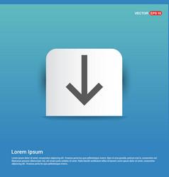 Down arrow icon - blue sticker button vector