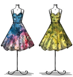 Dummies with dresses vector