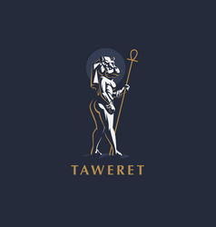 egyptian goddess taweret vector image