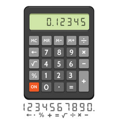 electronic calculator icon vector image