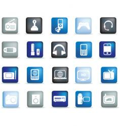 electronics buttons vector image