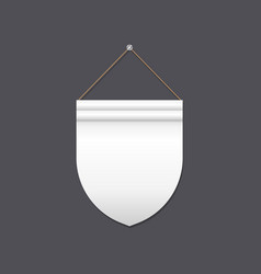 empty shield shaped flag vector image