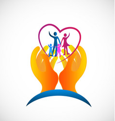 family healthcare symbol icon vector image