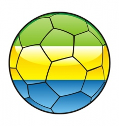 gabon flag on soccer ball vector image