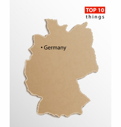 Germany map on craft paper texture template vector