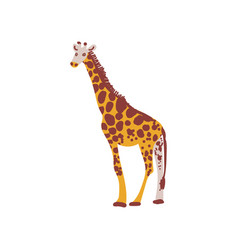 giraffe wild exotic african animal vector image
