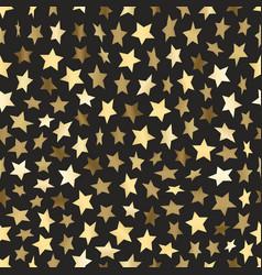 Golden stars seamless background vector