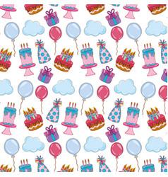 Happy birthday party decoration background vector