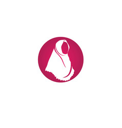 hijab black symbol vector image
