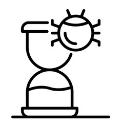 Hourglass bug icon outline style vector