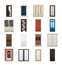 House Doors Set vector