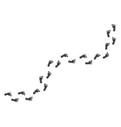 human footprints path images vector image