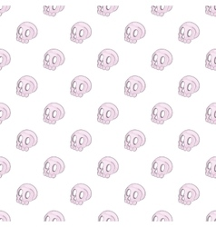 Human skull pattern cartoon style vector