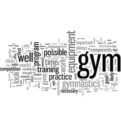 Important things to look for in a gym vector