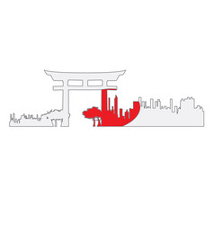 Isolated cityscape of tokyo vector