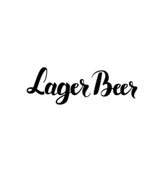 Lager Beer Handwritten Lettering vector