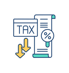 Low tax rate rgb color icon vector