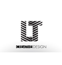 Lt l t lines letter design with creative elegant vector