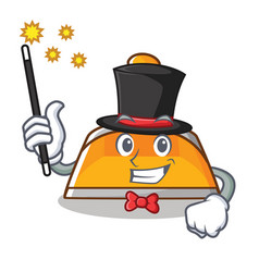 Magician dustpan character cartoon style vector