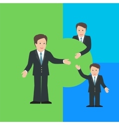 Merger and acquisition design concept vector