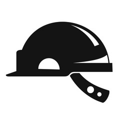 Mine worker helmet icon simple style vector