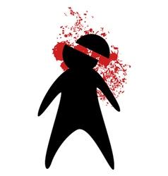 Murder symbol vector