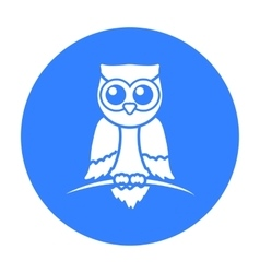 Owl icon black Singe animal icon from the big vector