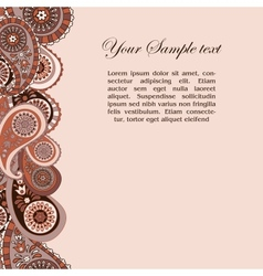 paisley background and place for your text vector image