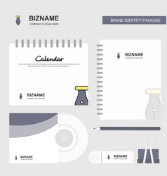 pen logo calendar template cd cover diary and usb vector image