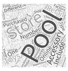 Pool Accessories Where You Can Buy Them Word Cloud vector