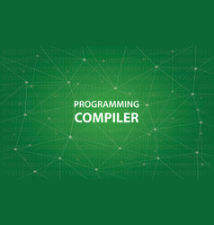 programming compiler concept white vector image
