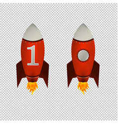 red rockets isolated transparent background vector image