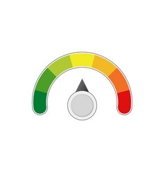 satisfaction level measure scale meter vector image