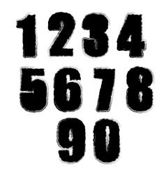 Set of Grunge Numbers vector