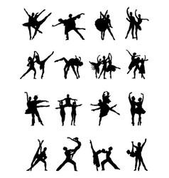 silhouettes ballerinas vector image