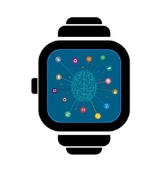 Smart watches brain vector image