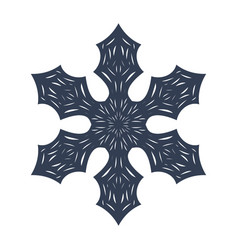 snowflake sign black snowflake icon isolated on vector image