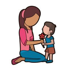 Son gift flower mother image vector